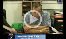 Newfane Selectboard Mtg. 11/7/13