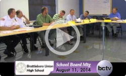 Brattleboro Union High School Bd. Mtg 8/15/14
