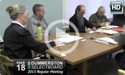 Dummerston Selectboard Mtg 3/18/15
