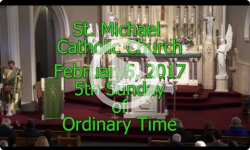 Mass from Sunday February 5 , 2017