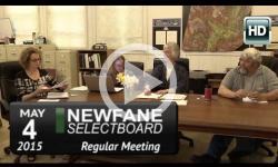 Newfane Selectboard Mtg 5/4/15