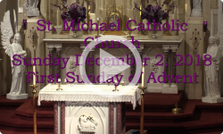 Mass from Sunday, November 2, 2018