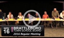 Brattleboro Town School Bd Mtg 11/16/16