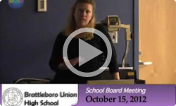 Brattleboro Union High School Bd. Mtg. 10/15/12