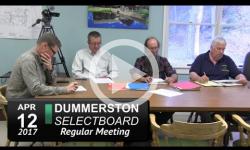 Dummerston Selectboard Mtg 4/12/17