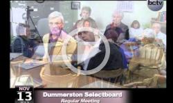 Dummerston Selectboard Mtg. 11/13/13