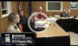 Vernon Selectboard Mtg 2/16/15