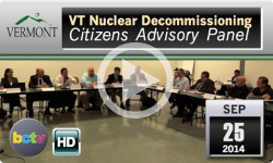 VT Nuclear Decommissioning Citizens Advisory Panel - 9/25/14