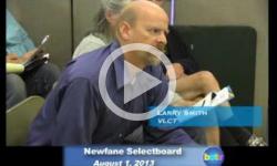 Newfane Selectboard Mtg. 8/1/13