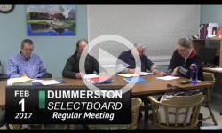 Dummerston Selectboard Mtg 2/1/17