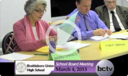 Brattleboro Union High School Bd. Mtg. 3/4/13