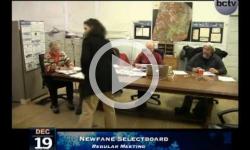 Newfane Selectboard Mtg. 12/19/13