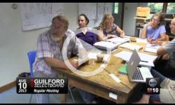 Guilford Selectboard Mtg 8/10/15
