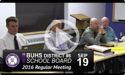 BUHS School Board Mtg 9/19/16