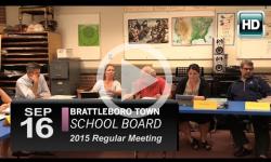 Brattleboro Town School Bd Mtg 9/16/15