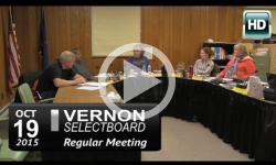 Vernon Selectboard Mtg 10/19/15