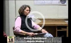 Putney Selectboard Mtg. 12/18/13