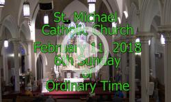 Mass from Sunday, February 11, 2018