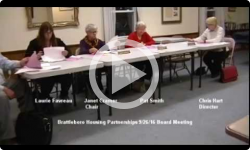Brattleboro Housing Partnerships Mtg. 9/26/16