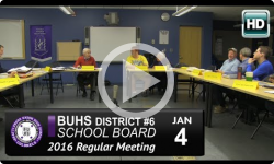 BUHS School Board Mtg 1/4/16