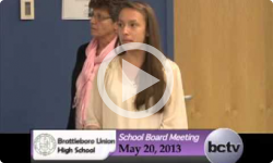 Brattleboro Union High School Bd. Mtg. 5/20/13