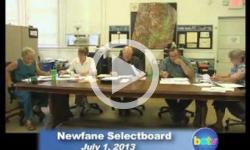 Newfane Selectboard Mtg 7/1/13