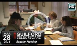 Guilford Selectboard Mtg 3/28/16