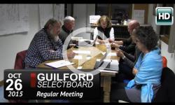 Guilford Selectboard Mtg 10/26/15
