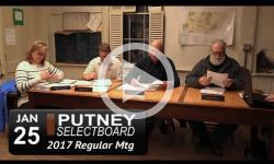 Putney Selectboard Mtg 1/25/17