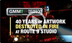 GMMT: Fire Destroys 40 Years of Artwork 8/30/16 (News Clip)