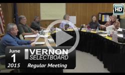 Vernon Selectboard Mtg 6/1/15