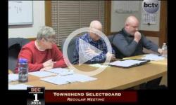 Townshend Selectboard Mtg 12/1/14