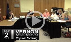 Vernon Selectboard Mtg 7/2/19