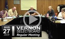 Vernon Selectboard Mtg 8/27/19