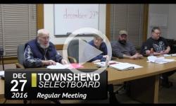 Townshend Selectboard Mtg 12/27/16