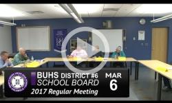 BUHS School Bd Mtg 3/6/17