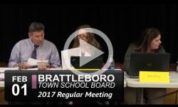 Brattleboro Town School Bd Mtg 2/1/17