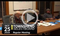 Townshend Selectboard Mtg 10/25/16