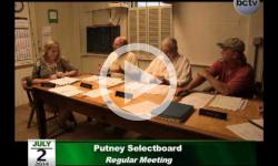 Putney Selectboard Mtg. 7/2/14