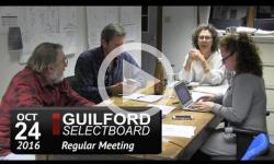 Guilford Selectboard Mtg 10/24/16