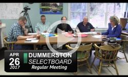 Dummerston Selectboard Mtg 4/26/17