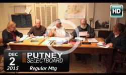 Putney Selectboard 12/2/15