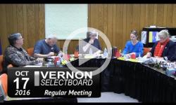 Vernon Selectboard Mtg 10/27/16