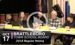Brattleboro Town School Board Mtg 10/17/18