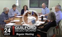 Guilford Selectboard Mtg 6/24/19