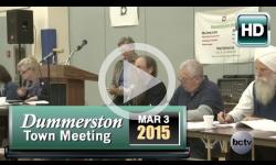 2015 Dummerston Town Mtg 3/3/15