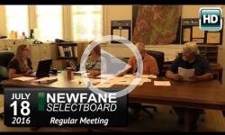 Newfane Selectboard Mtg 7/18/16