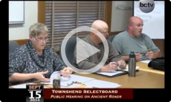 Townshend Selectboard Meeting 9/15/14