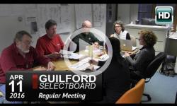 Guilford Selectboard Mtg 4/11/16