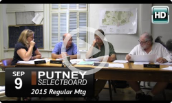 Putney Selectboard 9/9/15